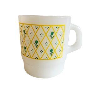 Vtg Thermocrisa Milk Glass Stackable Coffee Mug